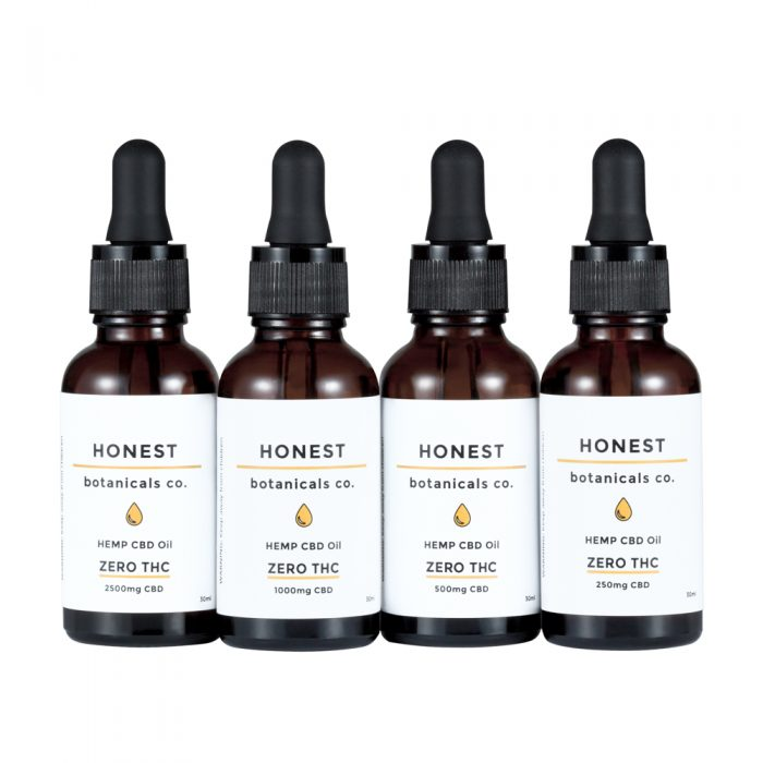 CBD Oil with Zero THC from Honest Botanicals